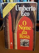 Umberto Eco O Nome da Rosa Editora Nova Fronteira 1983 PB SPANISH LANGUAGE