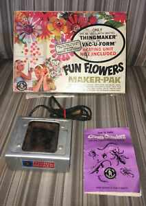 Vintage 1964 Creepy Crawlers Thingmaker Mattel Plastigoop Fun Flowers Molds