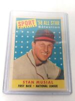 1958 TOPPS #476 STAN MUSIAL ALL STAR SELECTION HOF Sport Magazine First Base
