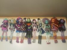 Lot of 10 Monster High Dolls, Clothes and Shoes