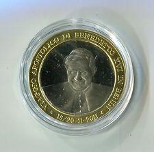 Medaille Papst Benedikt XVI in Benin 18. - 20. 11. 2011 Wappen Benin M_969