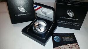 2019 US Mint Apollo 11 proof silver dollar, P mint, mint pkg, CoA