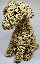 Handmade Rope Dog Puppy Statue Ornament Doorstop Handcrafted Gift