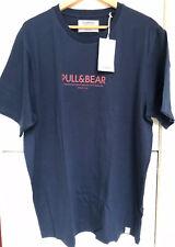 Pull and Bear Men's T-shirt - XXL - Blue - BNWT