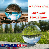 40-120mm Clear 5K Crystal Photography Lens Ball Photo Background Home Decor