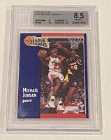 1991-92 Fleer Michael Jordan League Leaders #220 BGS 8.5 Near Mint Bulls Retro