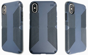 Speck Presidio GRIP Impact Protection Case Cover for iPhone XS & X Navy Blue