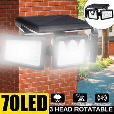 70 LED Solar Lights PIR Motion Sensor Wall Lamp Waterproof Outdoor Street Light