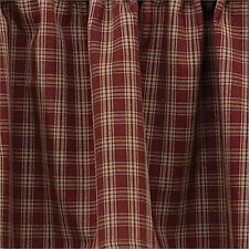 Plaid Cafe Tier Curtains For Sale