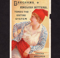 San Francisco ? Beechams English Bitters 1800's Victorian Advertising Trade Card