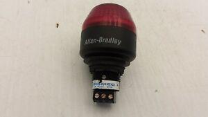 ALLEN BRADLEY 855PB-B24ME422 PANEL MOUNT RED LED 24VAC/DC 37MA