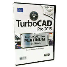 TurboCAD Pro 2015 Platinum Edition - Professional 2D 3D CAD Design Software. NEW