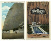 LOT OF 2 ~ Stone Mountain Confederate Memorial ~ Georgia ~ vintage postcard