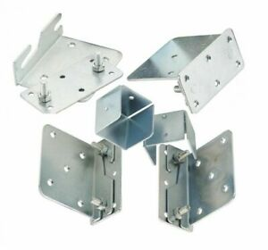 Bed Brackets 10 piece Set Heavy Duty Fittings Connectors Replacements Hook Hinge