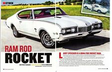1968 OLDSMOBILE CUTLASS S HOLIDAY COUPE 350/325 HP ~ GREAT 6-PAGE ARTICLE / AD