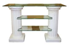 TV Rack Säulen Regal Fernsehschrank Hifi Rack Sideboard Steinregal Fossil Antik