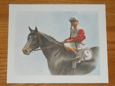 """Fred Stone Horse Racing Print - small - """"For Only A Moment - Ruffian"""""""