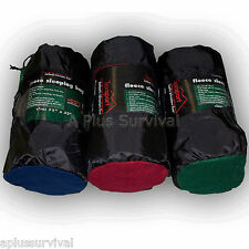 "Blue 50 Degree Fleece Sleeping Bag 32"" x 75"" Camping Emergency Survival Liner"