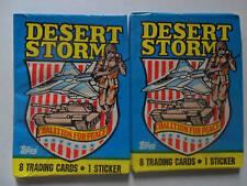 (2) Unopened Packs Desert Storm Trading Cards Iraq War