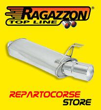 RAGAZZON TERMINALE SCARICO ROTONDO 102mm ALFA ROMEO 145 1.4 1.6 1.8 16V 06/1997