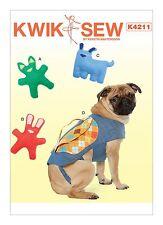Kwik Sew SEWING PATTERN K4211 Dog Toys & Backpack