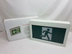 Thermoplastic Running Man with 3 Signs White Housing With Battery Backup - New