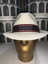 Stetson Rockport Men's Shantung Straw Summer Hat Made In USA Size 7 5/8