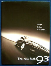 Prospekt brochure neuer new 1999 Saab 9-3 Coupé * 5-Door * Convertible (USA)
