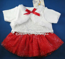 NEW Build-A-Bear WHITE LACE SWEATER RED SKIRT SET & BOWS Teddy Clothes Outfit