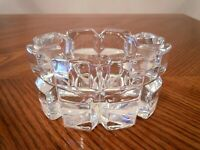 MIKASA Crystal Giftware REFLECTIONS Oval Votive Candle Holder Made in Germany