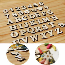 1 Set Wood Number Pattern Alphabet Letter Self-adhesive Shop Home Decor Word AU