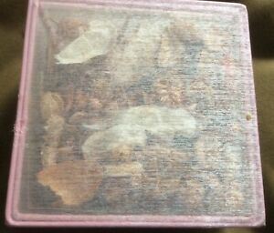 Pink satin mesh square potpourri box with lid