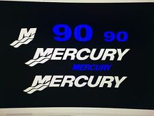 mercury outboard blue kit 90 hp decal stickers  Marine Vinyl this set is 90 hp