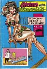CHISTES PARA COLECCIONISTAS N.-344 from 1991 MINA Mexican Comic Jokes Sexy Girls