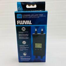 New listing Fluval Digital Led 2 Channel Dual Lamp Timer For Aquarium Light Fixtures W/ Box