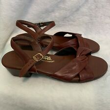 SAS Tripad Comfort Sandal Red/brown Bow Womens Size 10