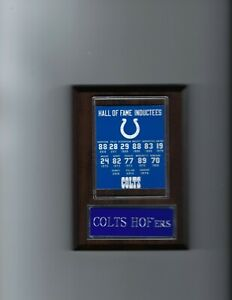 BALTIMORE COLTS HOF PLAYERS PLAQUE FOOTBALL NFL INDIANAPOLIS