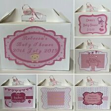 Personalised Baby Shower Gift Box New Baby Girl Present Thank You Mum to Be Box