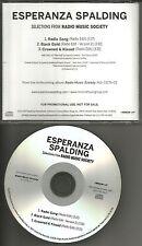 ESPERANZA SPALDING Sampler w/ 3 RARE EDITS PROMO Radio DJ CD Single 2012 USA