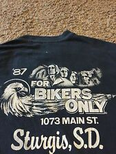 VTG 80's 1987 XL Harley Davidson Sturgis Motorcycle Shirt Rare For Bikers Only