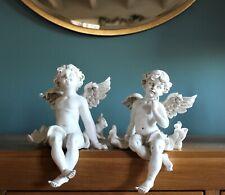 Home Decor Pair Magical Fairy Angel Cherub Figurine Garden Ornament: 12cm tall