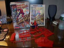 Aurora 1974 The Amazing Spider-Man OB complete w 8 page comic spidey built