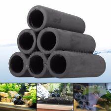 Aquarium Tank 6 Hole Tube Breeding Cave Shelter For Shrimp Spawn Live Plant Fish