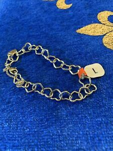 """James Avery Silver Connected Hearts Charm Bracelet Large 8"""""""