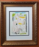 PABLO PICASSO ORIGINAL 1971 SIGNED PRINT MATTED 11 X 14 + LIST $495
