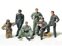 35201 Tamiya German Tank Crew At Rest 1/35th Plastic Kit 1/35 Military