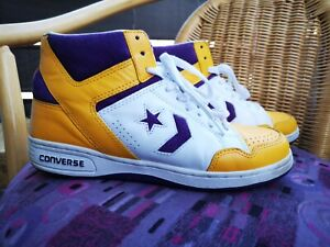 Converse Weapon LA Lakers vintage basketball shoes Magic Johnson us 10 rare erx