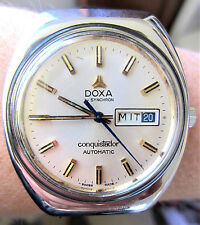 Gents 1970's Swiss SS Doxa Conquistador Automatic ETA2789 Day Date Watch Service