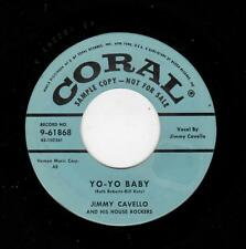 ROCKABILLY-JIMMY CAVELLO/HOUSE ROCKERS-CORAL 61868-YO-YO BABY/TEENAGE LOVER