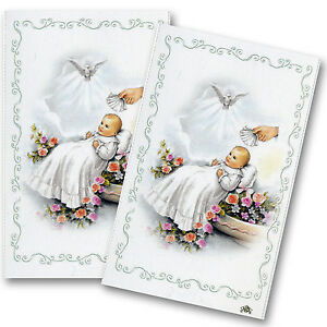 Baptism Christening Custom Prayer Cards 24 Laminated